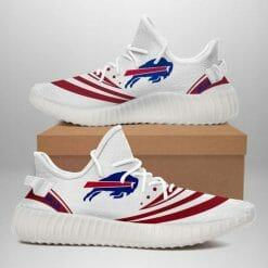 NFL Buffalo Bills  Yeezy Boost White Sneakers V2
