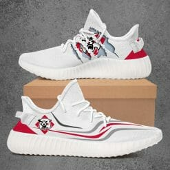 NCAA Davidson Wildcats Yeezy Boost White Sneakers V3