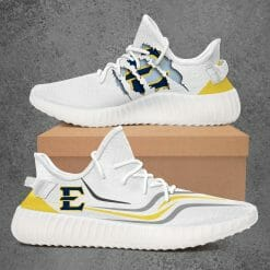 NCAA East Tennessee State Buccaneers Yeezy Boost White Sneakers V3