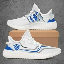 NCAA Georgia State Panthers Yeezy Boost White Sneakers V3