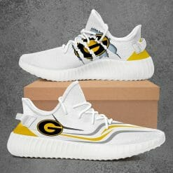 NCAA Grambling State Tigers Yeezy Boost White Sneakers V3