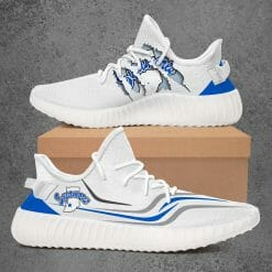 NCAA Indiana State Sycamores Yeezy Boost White Sneakers V3