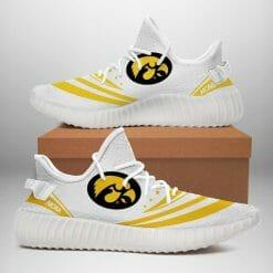 NCAA Iowa Hawkeyes Yeezy Boost White Sneakers V2