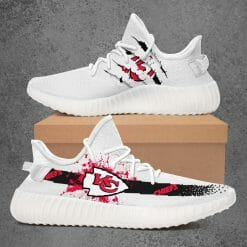 NFL Kansas City Chiefs Yeezy Boost White Sneakers V1