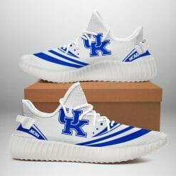 NCAA Kentucky Wildcats Yeezy Boost White Sneakers V2