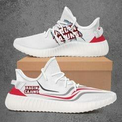 NCAA Louisiana Ragin' Cajuns Yeezy Boost White Sneakers V3