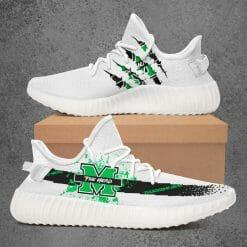 NCAA Marshall Thundering Herd Yeezy Boost White Sneakers V1