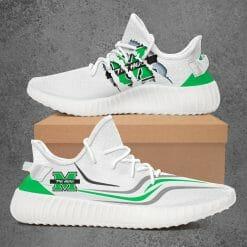NCAA Marshall Thundering Herd Yeezy Boost White Sneakers V3