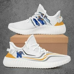 NCAA Memphis Tigers Yeezy Boost White Sneakers V3