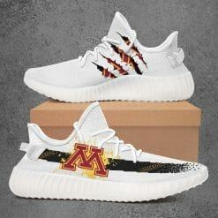 NCAA Minnesota Golden Gophers Yeezy Boost White Sneakers V1
