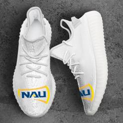 NCAA Northern Arizona Lumberjacks Yeezy Boost White Sneakers V4