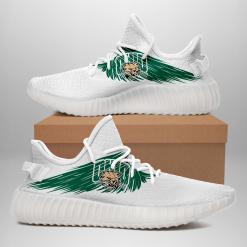 NCAA Ohio Bobcats Yeezy Boost White Sneakers V4