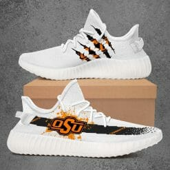 NCAA Oklahoma State Cowboys Yeezy Boost White Sneakers V1