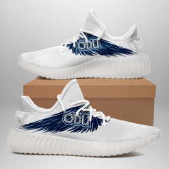 NCAA Old Dominion Monarchs Yeezy Boost White Sneakers V4