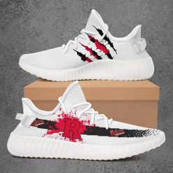 NCAA Rutgers Scarlet Knights Yeezy Boost White Sneakers V1