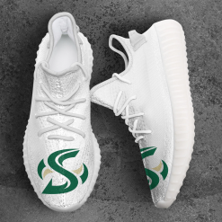 NCAA Sacramento State Hornets Yeezy Boost White Sneakers V4