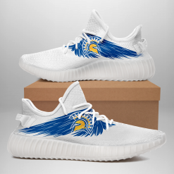 NCAA San Jose State Spartans Yeezy Boost White Sneakers V4