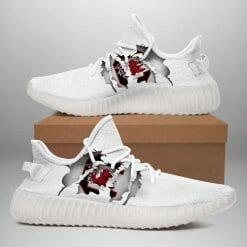 NCAA South Carolina Gamecocks Yeezy Boost White Sneakers V4
