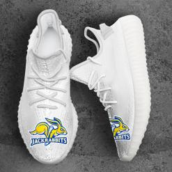 NCAA South Dakota State Jackrabbits Yeezy Boost White Sneakers V4