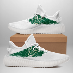 NCAA South Florida Bulls Yeezy Boost White Sneakers V4