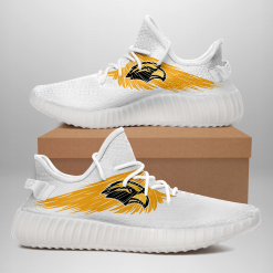 NCAA Southern Miss Golden Eagles Yeezy Boost White Sneakers V4