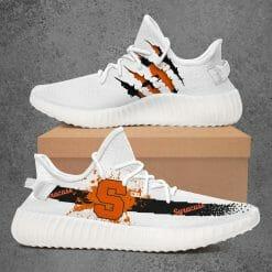 NCAA Syracuse Orange Yeezy Boost White Sneakers V1