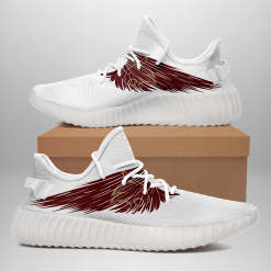 NCAA Texas State Bobcats Yeezy Boost White Sneakers V4