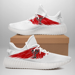 NCAA Texas Tech Red Raiders Yeezy Boost White Sneakers V4