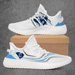 NCAA The Citadel Bulldogs Yeezy Boost White Sneakers V3