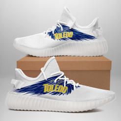 NCAA Toledo Rockets Yeezy Boost White Sneakers V4