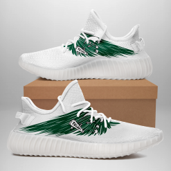 NCAA Tulane Green Wave Yeezy Boost White Sneakers V4