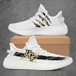 NCAA UCF Knights Yeezy Boost White Sneakers V1