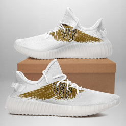 NCAA Wake Forest Demon Deacons Yeezy Boost White Sneakers V4