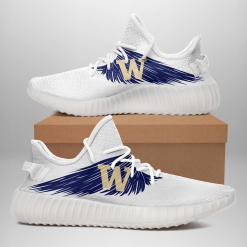 NCAA Washington Huskies Yeezy Boost White Sneakers V4