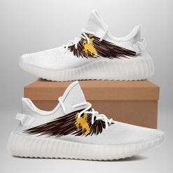 NCAA Wyoming Cowboys Yeezy Boost White Sneakers V4