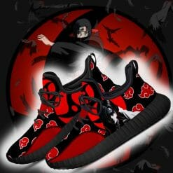 Naruto Anime Itachi Uchiha Reze Black Sneakers V2