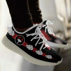 Naruto Anime Itachi Uchiha Yeezy Boost White Sneakers V3