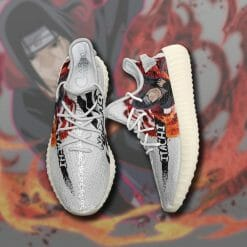 Naruto Anime Itachi Uchiha Yeezy Boost White Sneakers V1