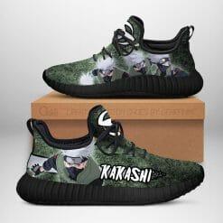 Naruto Anime Kakashi Hatake Reze Black Sneakers V1