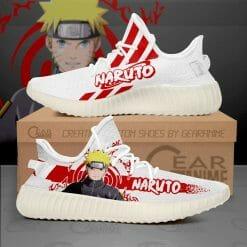Naruto Anime Naruto Uzumaki Yeezy Boost White Sneakers V2
