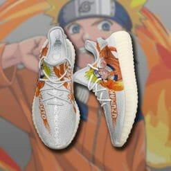 Naruto Anime Naruto Uzumaki Yeezy Boost White Sneakers V1