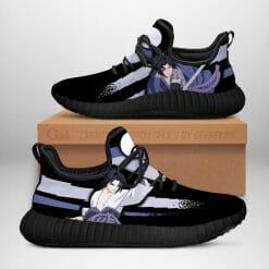 Naruto Anime Sasuke Uchiha Reze Black Sneakers V2