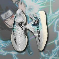 Naruto Anime Sasuke Uchiha Yeezy Boost White Sneakers V2