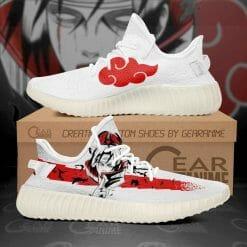 Naruto Anime Itachi Uchiha Yeezy Boost White Sneakers V2